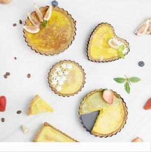 Bakeware Accessori Pie Torta Pan di stampo inferiore rimovibile della caramella della torta della pasticceria strumento a forma di cuore onda rettangolare lato Stampi