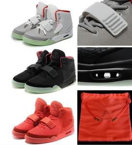 2 Red October NRG Kanye West 2 black solar red NRG Wolf Grey Pure Platinum OG With Box Dust Bag Sneakers Basketball Shoes v2 350 boost