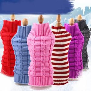 Maglioni intrecciati cane alta elasticità Morbido mantello tenere caldo Pet pullover multi colori vestiti cucciolo a strisce durevole 9 9gg BB