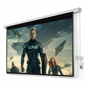 New HD Foldable Electric Motorized Projector Screen + Remote