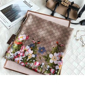 brand Beautiful classic high quality classic European and American Luxury hot style brand silk letter scarf elegant lady wrap scarf