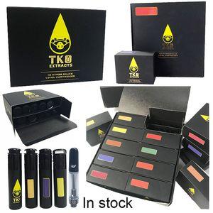 0.8ml TKO Cartridges Glass Carts 1ml Ceramic Oil Atomizer Vape Cartridge Packaging Empty Dab Vaporizer E Cigarette Vape Tank For 510 Battery