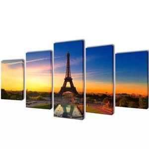 Canvas Wall Imprimir Set Torre Eiffel 79 adesivos de parede