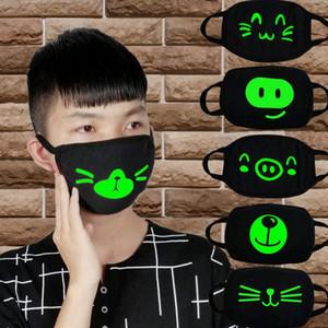 20 Styles Halloween Multi Use Luminous Accessories Mask For Adult Skull Masks Skeleton PM2.5 Dustproof Skull Half Protection Face Shields