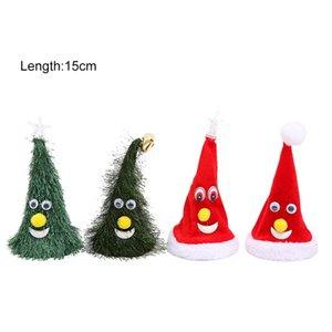 Cantando Eléctrico de Natal Hat 6Inch Christmas Tree balanço engraçado Crianças Toy Decoração domésticos criativo