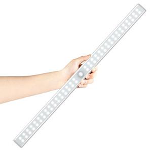 20/36/64 LEDs USB Şarj Edilebilir LED Altında Kabine Işık PIR Dolap Dolabı Hareket Sensörü Dolabı Dolap için Gece Işık mutfak