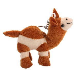 Stuffed Toys For Children Cute Soft Camel Keychain Toy Funny Stuffeds Kids Gift Plush Toy Lifelike Delicate Novelty Plaything