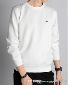 Primavera dos homens e no Outono nova T-shirt roupas no início do outono de lazer jaqueta de cabeça camisola cobertura gola redonda masculina manga longa