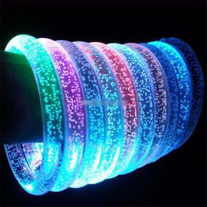 LED акриловые Блеск Glow вспышки привело браслет свет вверх игрушки Sticks Светящийся кристалл кольцо руки браслет Потрясающие Dance Party рождественские подарки