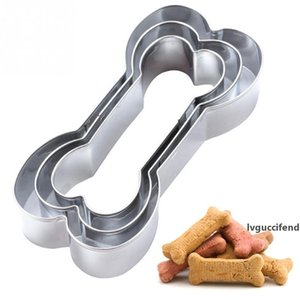 Easter Cookie Cutter bakeware Dog Bone shape cookies Stainless Steel Biscuit mold Three-piece Set DIY Baking cookie tools LX1642