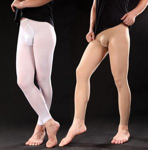2018 hommes Leggings Homme Tight Stocking Hommes Pantalons Ninth pour hommes sexy Bas velours 120D Chaussettes