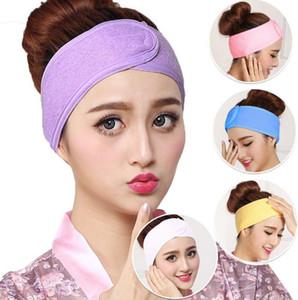 Toalla Cinta elástica barato Maquillaje señoras de la mascarilla del pelo de la venda Deportes absorbente capilla pelo de la venda accesorios para el cabello dc462