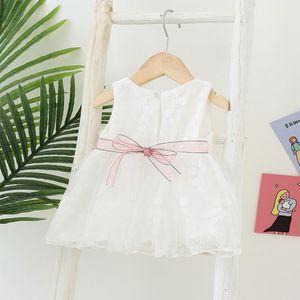 Kızlar Yaz Sevimli Sweetheart Küçük Kız Etek Dantel Örgü Elbise
