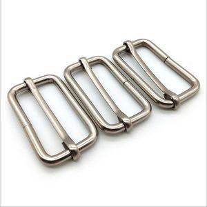 Silver Webbing adjustment buckle suspenders buckles Belt Slider Third gear deduction suspender clips 25mm 1in