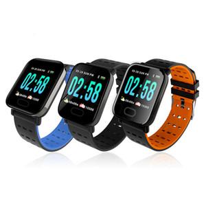 A6 Fitbit Spor Akıllı Bant Tansiyon Akıllı Bilezik Nabız Spor Tracker IP67 su geçirmez Akıllı Bileklik İzle FFA3562