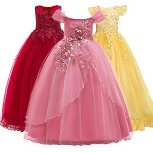 2018 Yeni Yaz Prenses Kolsuz Elbise Kız Gelinlik, Kız Partynoble Mizaç, elbise 5-14yrs Çok Güzel. Y19061303
