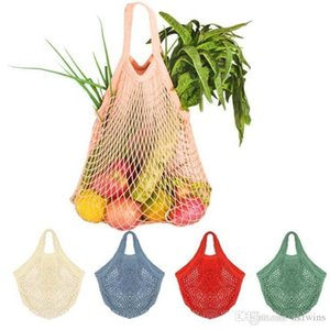 Reusable String Shopping Bags Mesh Net Woven Shoulder Bag Woven Shoulder Bag Turtle Bag Totes Home Storage Bags LXL784-1