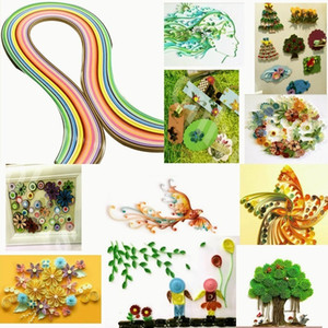 26 colors160pcs Stripes Quilling Paper Mixed Color Origami Paper For DIY Hand Craft Toy