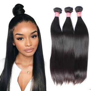 3pcs Bella Europeia Virgem Cabelo Duplo trama / lot reta de seda do cabelo Pacotes Natural Hair Color extensões frete grátis