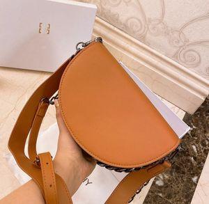 Gift box Womens Luxury Designer Bag Desinger Handbag Microfiber High Quality Fashion Luxury Shoulder Bag Messenger Semicircle Saddle Bag