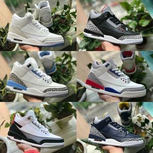 مبيعات 2019 الصرفة الأبيض 3 أحذية كرة السلة للرجال رخيصة 3S تينكر كاترينا JTH الحرة رمي لينيل شيكاغو OG الملكي الأزرق الأسود الأحمر الاسمنت أحذية رياضية