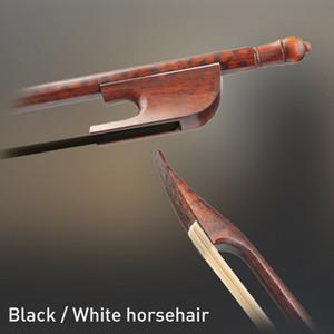 NAOMI Advanced немецкого барокко Bow Snakewood Круглый Придерживайтесь Монгольский черный / белый конский хорошо сбалансирован Скрипка / Альт / Виолончель Лук