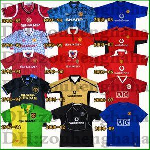 1992-93 1994 Manchester United Retro Soccer Jersey Beckham Giggs Stam man utd Tercer hogar lejos tercero Cantona Kanchelskis camiseta de fútbol