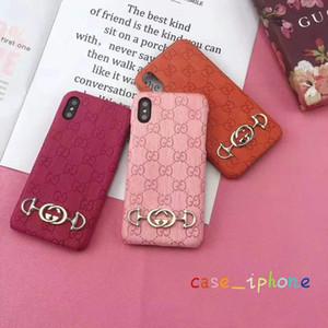 Cas de téléphone de marque de mode pour Iphone XS MAX XR X / XS 7P / 8P 7/8 6P / 6SP 6 / 6S Coque coloré avec lettre de luxe en arrière 8 couleurs en gros