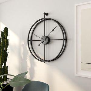 55cm grande silencioso reloj de pared moderno del diseño relojes para la decoración del hogar Estilo Oficina Europea de colgar de la pared del reloj Relojes