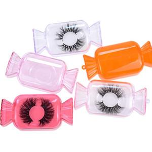 Cílios falsos Embalagem Box Forma massa doce Esvaziar Acrílico Lash Package Caso Lashes Box Cils Caso Faux