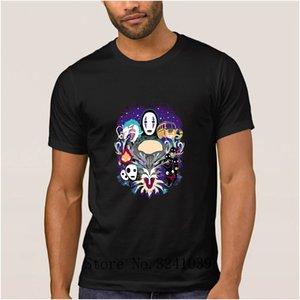 Anlarach Studio Ghibli Printing Humor arrebatados camisa dos homens t verão dos desenhos animados regulares tshirt para homens 100% algodão homens tshirt