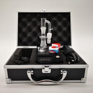 Los kits de la venta caliente E Nail Kit Box 20 mm bobina eléctrica Dab Enail E-coloridas del esmalte caja de control con 14 mm 18 mm cuarzo Banger Caps adaptador