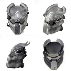 Alien Vs Predator Solitaire Loup Masque Avec Lampe En Plein Air Wargame Masque Tactique Visage Complet Cs Masque Halloween Party T8190617