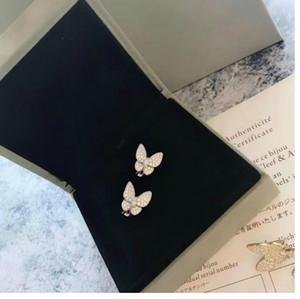 Luxury Jewelry Earrings s925 Sterling Silver Material Butterfly Diamond Stud Earrings Designer FLYING BUTTERFLY Wedding Engagement Earring