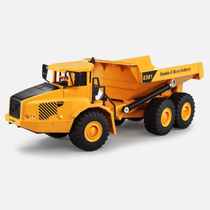 Modèle de voiture jouet Grand camion de transport articulé articulé télécommandé Transport Modèle de voiture Grand camion basculant Seau Voiture