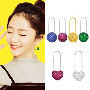 Spring new super fairy candy Earrings female personality fashion color love back needle sweet little fresh earrings