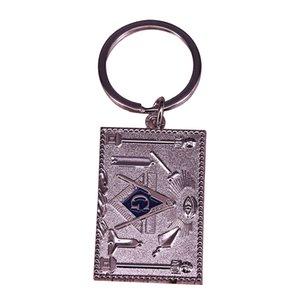 Masonik gümüş anahtarlık AG Masonluk pusula her gören göz anahtarlık basit iş erkek aksesuar hediye