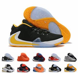 Neu ZOOM Greek Freak 1 Giannis Antetokounmpo Schwarz Orange Gold GA I 1S Signature Basketballschuhe Trainer GA1 Sports Sneakers 7-12