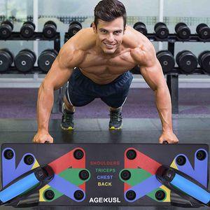 Spingere verso l'alto Rack Consiglio 9 Sistema donne degli uomini completa forma fisica di esercitazione di allenamento del Push-up Stand Body Building Training Gym