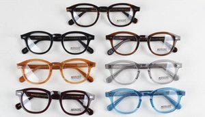 New Brand Designer 10 Color Eyeglasses Frames Lemtosh Glasses Frame Johnny Depp High Quality Round Men Optional Myopia 1915 With Case