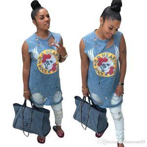Синее Платье Летние Платья Без Рукавов Джинсовые Синие Отверстия Дизайнерская Одежда Платье Хэллоуин Женщины Свет