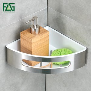 FLG Banyo Raf 304 Paslanmaz Çelik ABS Plastik Tek Tier Banyo Depolama Sepet Duvar Raf Raf