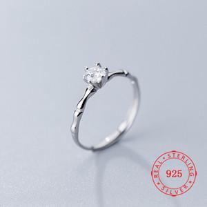 Monili all'ingrosso 925 d'argento singolo CZ zircone Wedding Aperto Anelli Donne 2019 Solitaire anello Jewellry Cina all'ingrosso a buon mercato