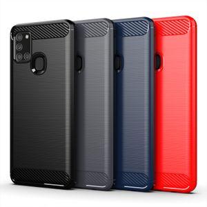 Samsung için Sağlam Kalkan Zırh Karbon Elyaf Vaka A01 A11 A21 A31 A41, A51, A71, A81 A91 A10 A10E A20S A30, A50 A70