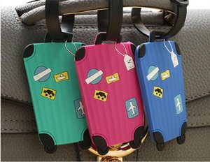 Travel Accessories Creative Luggage Tag Cartoon Silica Gel Suitcase ID Addres Holder Baggage Boarding Tags Portable Label 5pcs