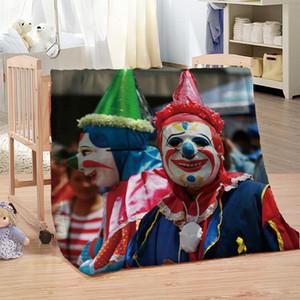 Clown Lion Print Sherpa Coperta per letti Coperta peluche Coperta Kids Adulti Biancheria da letto 150x200