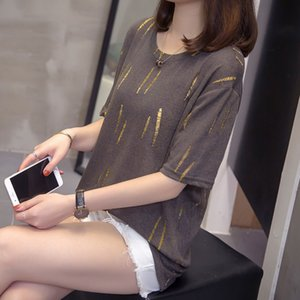 Plus Size Hole Tops And Tees Summer Women Trendy Casual Loose T-shirt Oversize Short Sleeve Korean Ulzzang Chic Lady Tshirt
