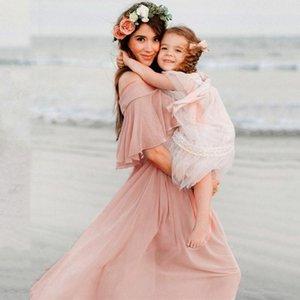 Mutterschaft Kleider für Foto-Shooting Sommer-Strand-Fotografie Props Short Sleeve Raff festes Kleid Schwangere Mutterschaft Kleider