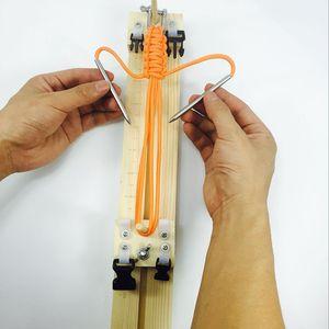 Браслет Вязание Инструмент браслет Вязание инструмент DIY Вуд Paracord Jig Браслет Maker Wristband Maker FT68