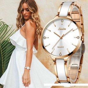 SUNKTA Women Watch Ceramic Watch Women Simple Diamond Clock Casual Fashion Watch Sport Waterproof Wristwatch Relogio Feminino SH190929